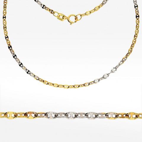 Dwukolorowy złoty łańcuszek 45cm splot Gucci