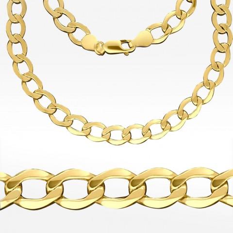 Złoty łańcuszek 65cm splot pancerka