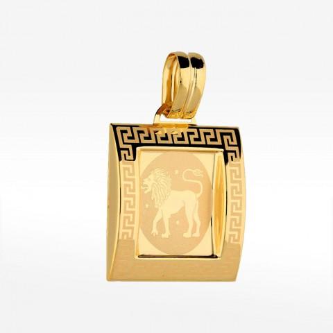 Złota zawieszka lew znak zodiaku