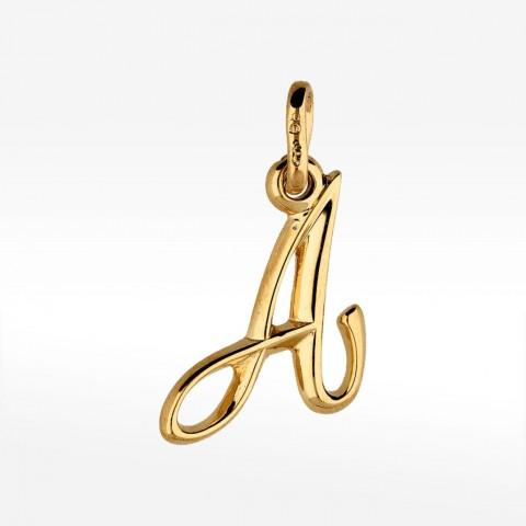 Ozdobna złota literka A