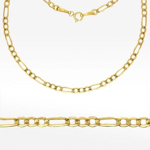 Złoty łańcuszek 45cm Figaro