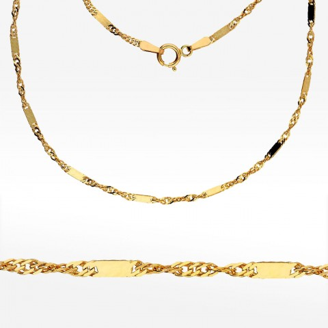 Złoty łańcuszek 50cm Singapur pełny