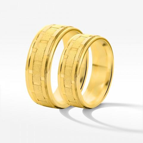 Obrączki ślubne z żółtego złota 6.5mm płaskie