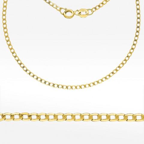 Złoty łańcuszek 45cm pancerka diamentowana