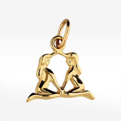 Złota zawieszka bliźnięta znak zodiaku