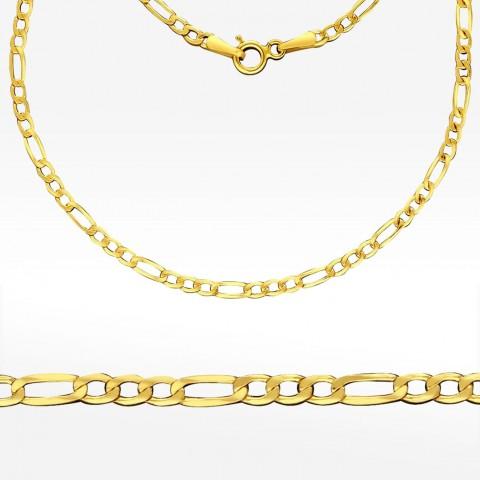 Złoty łańcuszek 45cm splot Figaro