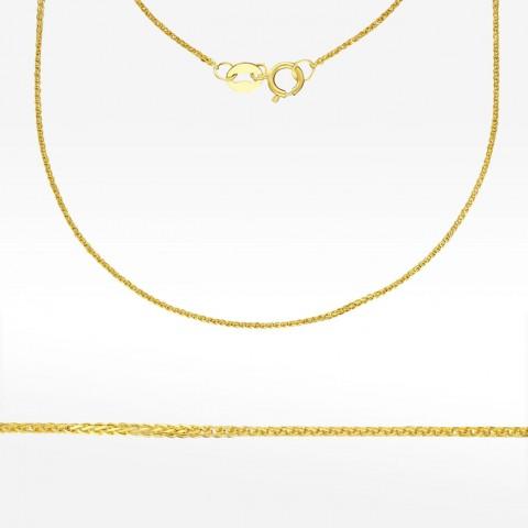 Złota łańcuszek 45cm splot lisi ogon pełny