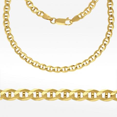 Złoty łańcuch 55cm splot Gucci Pełny