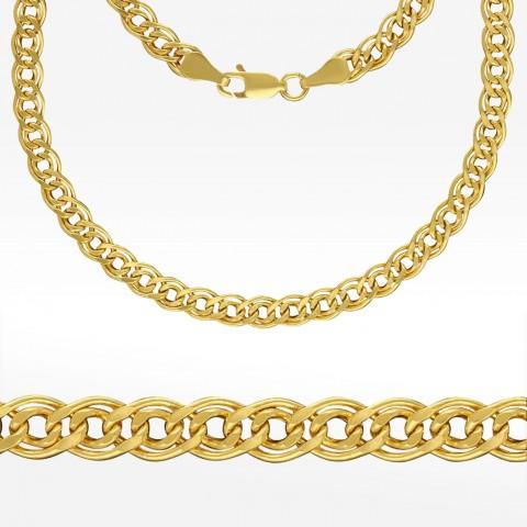 Złoty łańcuszek 50cm splot Mona Lisa