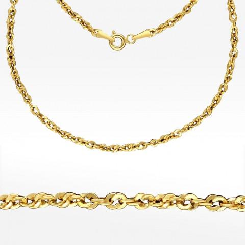 Złoty łańcuszek 55cm splot kord