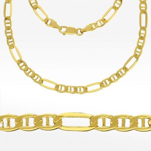 Złoty łańcuszek 50cm splot Figaro-Gucci
