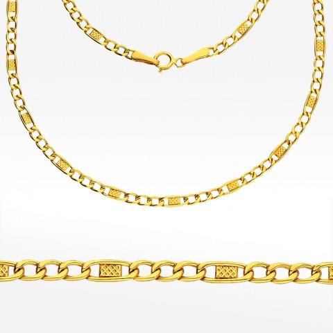 Złoty łańcuszek 55cm splot Figaro