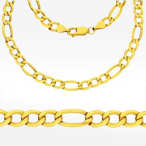 Złoty łańcuch 60cm splot Figaro