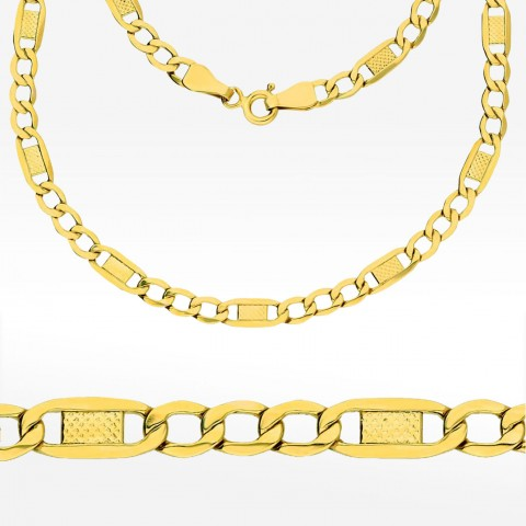 Złoty łańcuszek 50cm splot Figaro