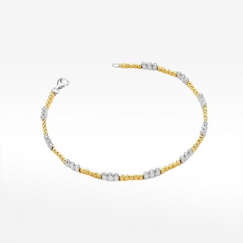 Bransoletka z żółtego złota z brylantami