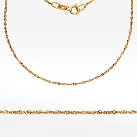 Łańcuszek ze złota  40cm Singapur
