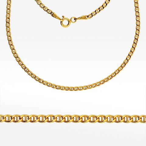 Złoty łańcuszek 50cm splot Gucci