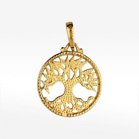 Złota zawieszka drzewo życia
