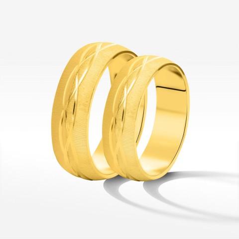 Obrączki ślubne z żółtego złota 5.7mm półokrągłe