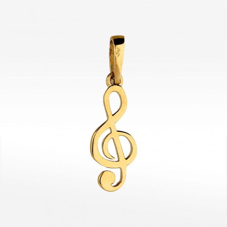 Zawieszka ze złota klucz wiolinowy