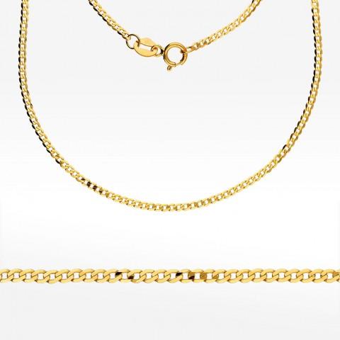 Złoty łańcuszek 50cm pancerka pełna