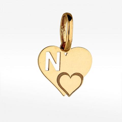 Zawieszka ze złota literka N