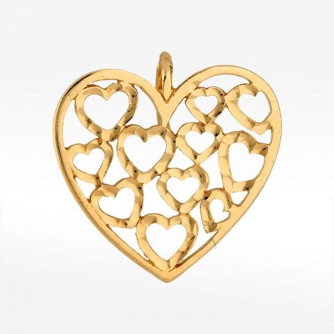 Zawieszka ze złota serca