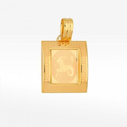 Zawieszka ze złota znak zodiaku koziorożec
