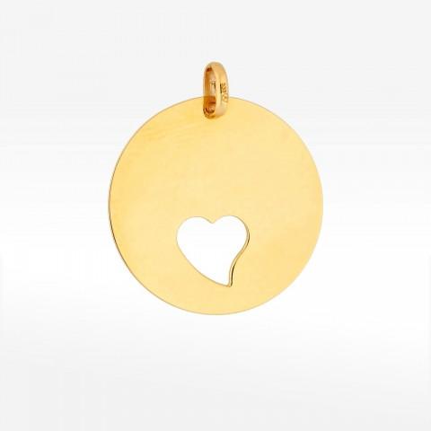 Zawieszka ze złota blaszka z sercem