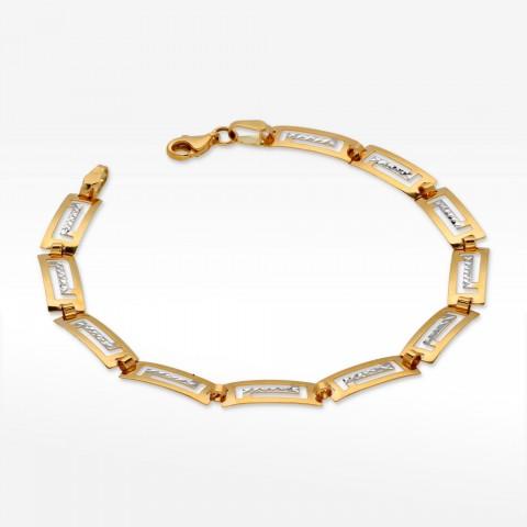 Bransoletka ze złota grecki wzór