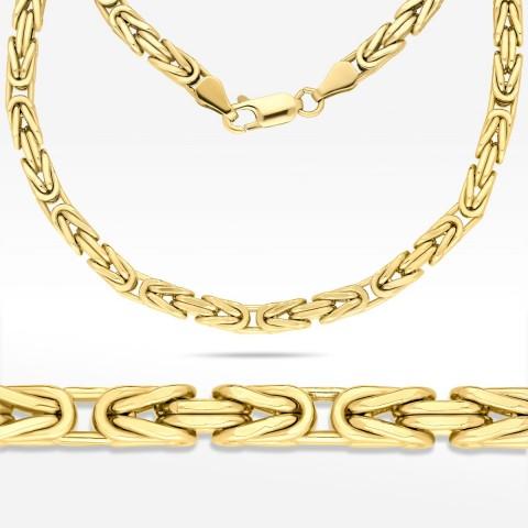 Łańcuch ze złota 55cm splot Królewski