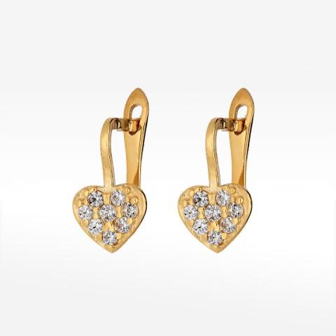 Kolczyki ze złota z sercem