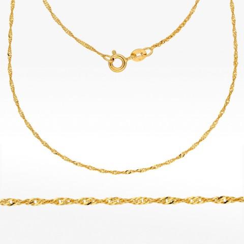 Łańcuszek ze złota 50cm Singapur pełny