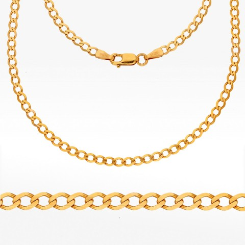 Łańcuszek ze złota 45cm pancerka pełny