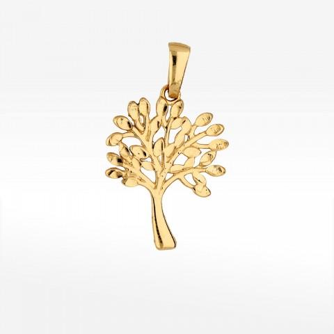 Zawieszka ze złota drzewko szczęścia