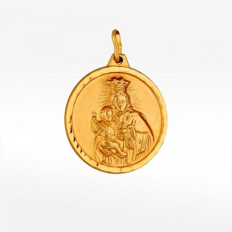 Dwustronny medalik ze złota