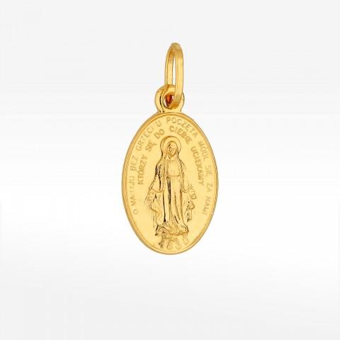 Zawieszka ze złota Cudowny Medalik