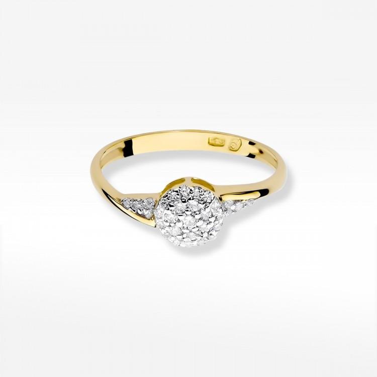 Pierścionek zaręczynowy z brylantami