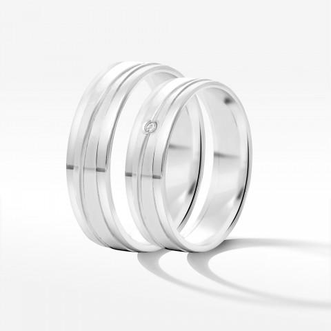 Obrączki ślubne z białego złota 5mm płaskie