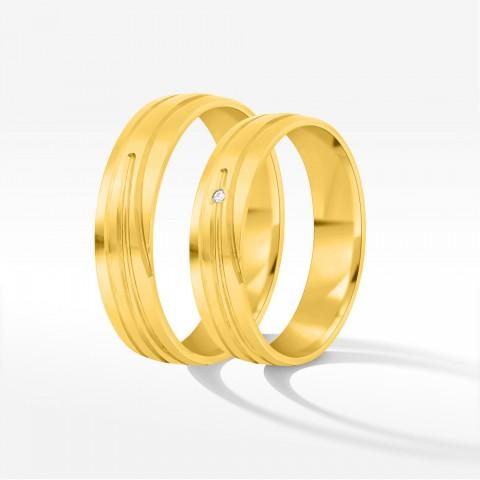 Obrączki ślubne z żółtego złota 5.5mm półokrągłe