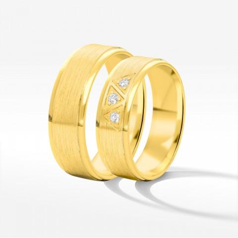 Obrączki ślubne z żółtego złota 6mm płaskie