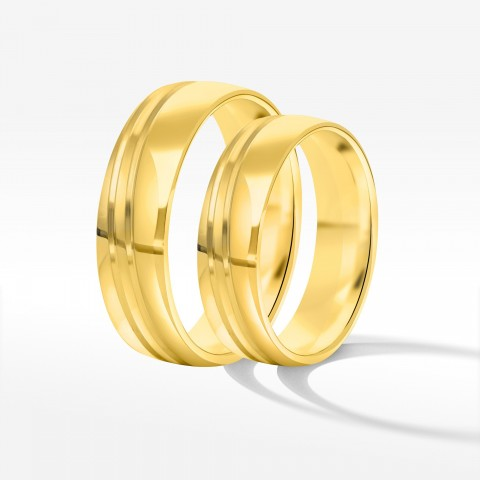 Obrączki ślubne z żółego złota 5.5mm półokrągłe