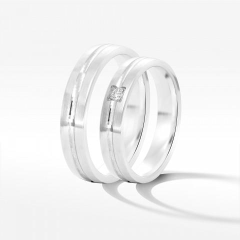 Obrączki ślubne z białego złota 4mm półokrągłe